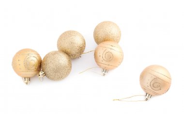 Decoration golden balls composition