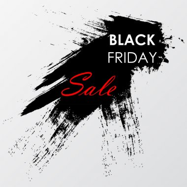 Black Friday Sale label on the grunge ink stain