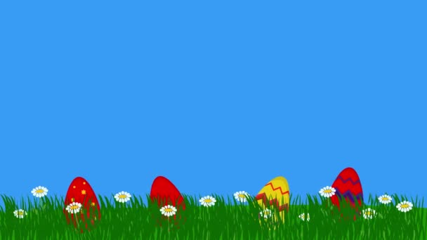 Background Animasi Telur Paskah Rumput Desain Grafis Datar — Stok Video ©  Jhnbnk #452478986