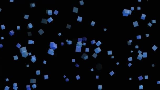 3D kostky částic pozadí smyčky