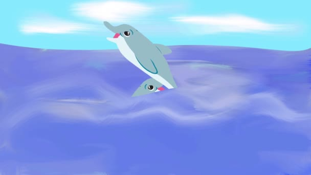 2 delfini di fumetto
