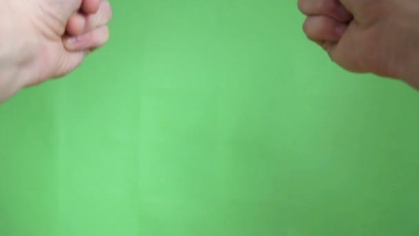 ruce gesta zelená obrazovka