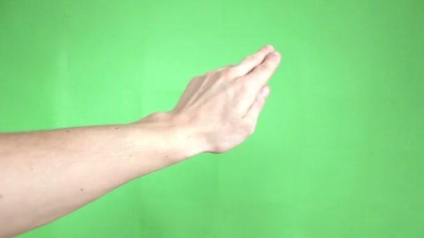ruce dotyková gesta zelená obrazovka