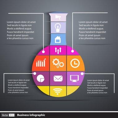 Creative template test tube infographics