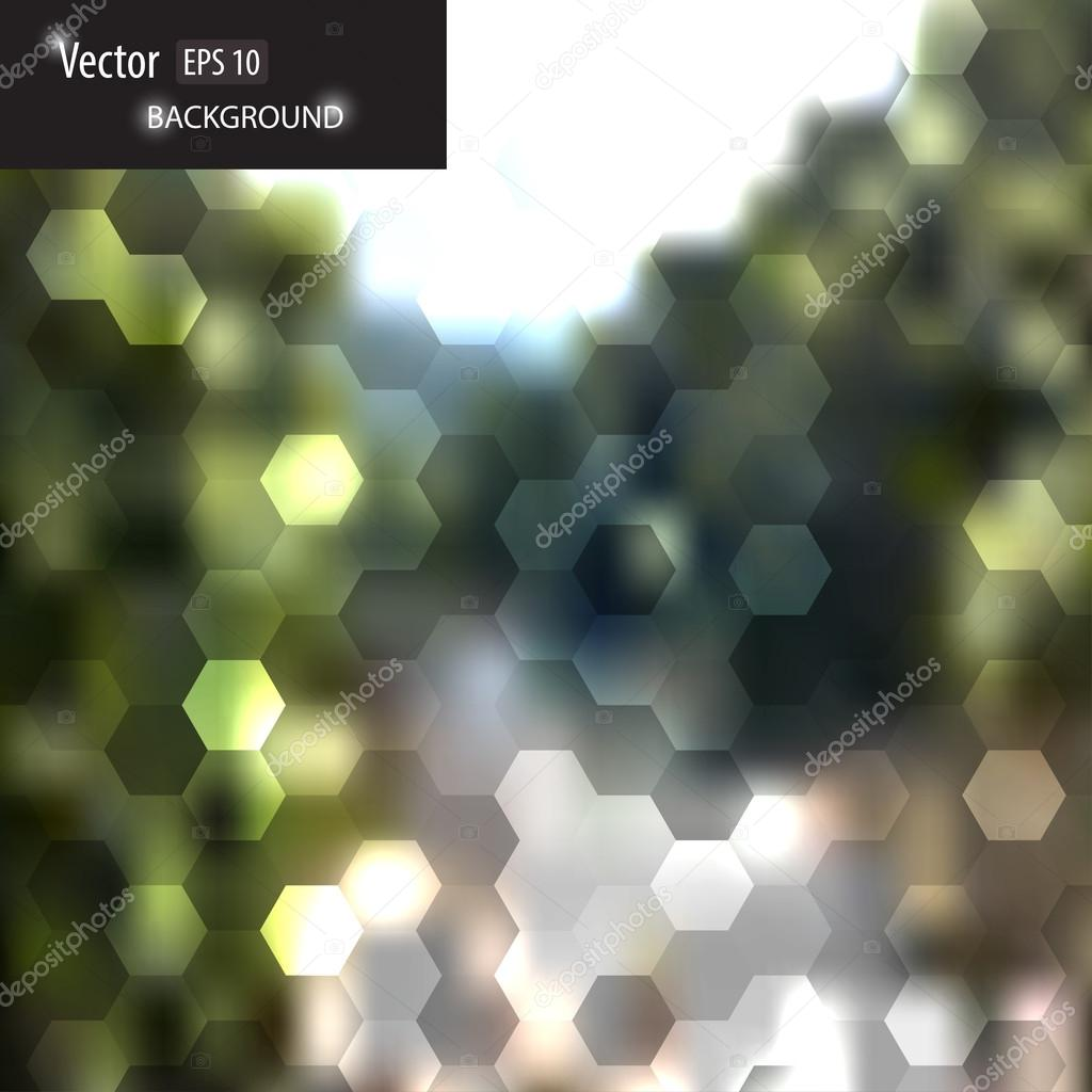 Vector blurred web and mobile interface template.