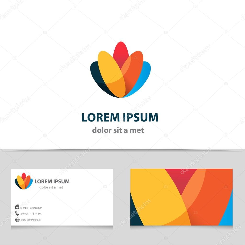 Abstract vector logo design template with business card vetores de abstract vector logo design template with business card vetor de designof reheart Gallery