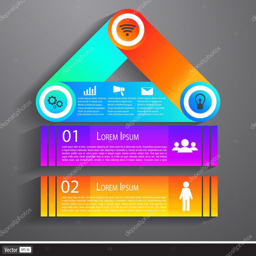 Modern Business Infographics Building flat design. Creative Idea with House.
