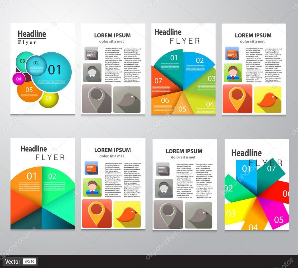 Ensemble De Flyer Modeles De Conception De Brochure Fonds Modernes