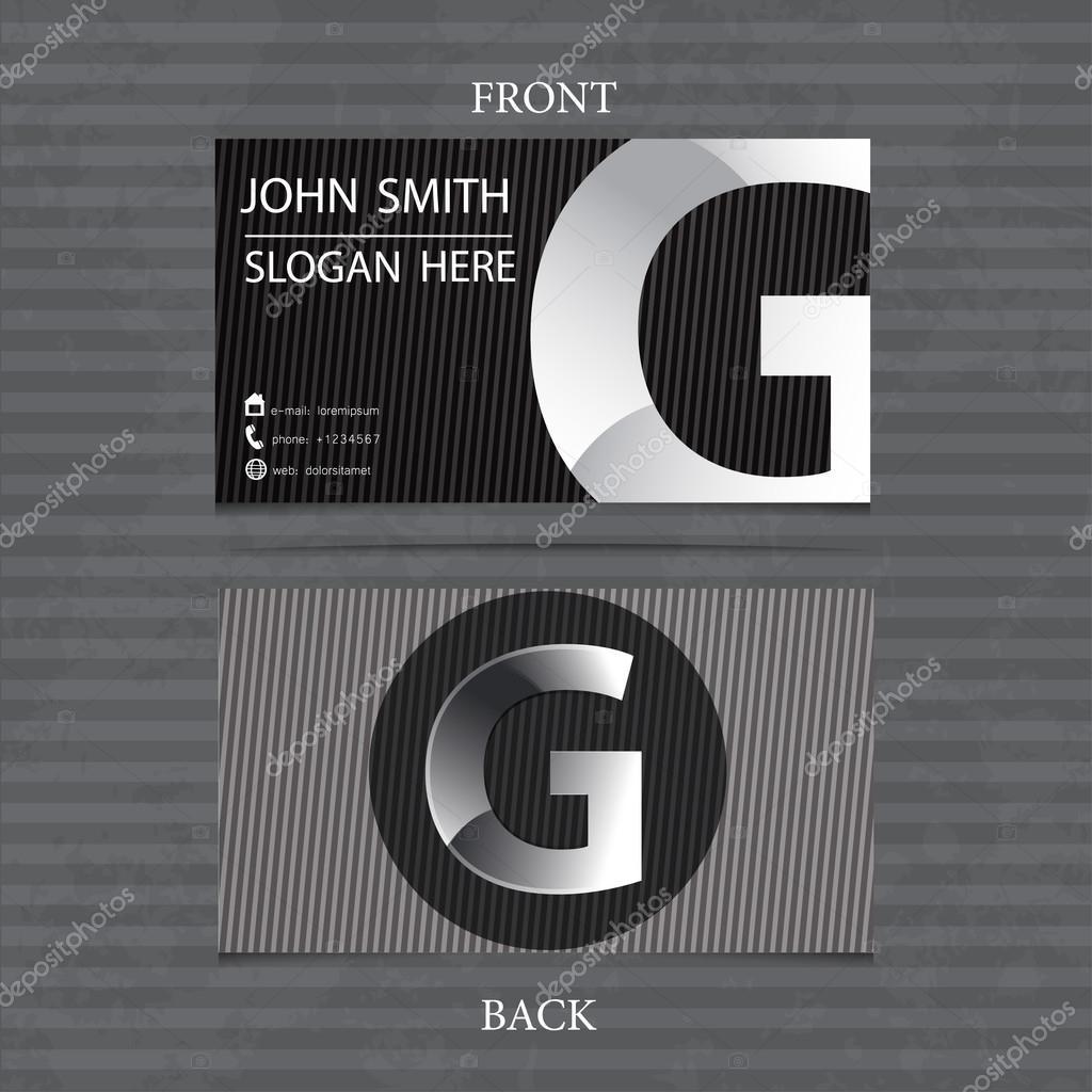Kreativ Metall Visitenkarte Schreiben G Vektor Illustration