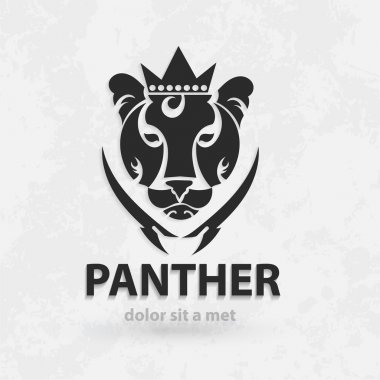 Vector stylized silhouette panther. Artistic creative design. Sketch for tattoo.