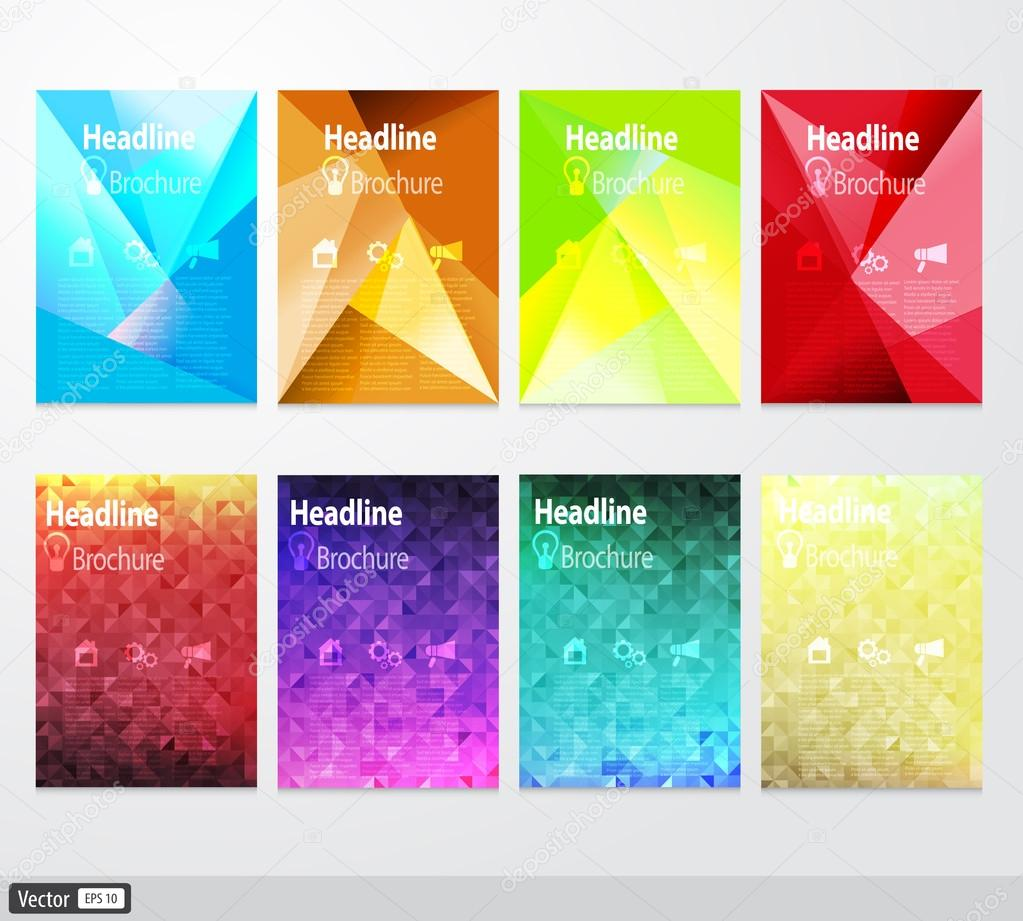 Vecteur d fini flyer mod le de conception de brochure for Idee de creation entreprise