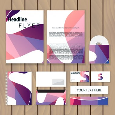 Creative colorful corporate identity. Trendy business concept with logo design template, letter s. Vector illustration.