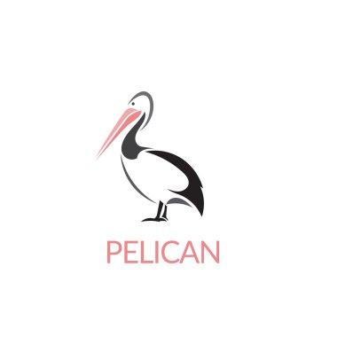 Artistic stylized pelican icon. Silhouette birds. Creative art logo design. Vector illustration.