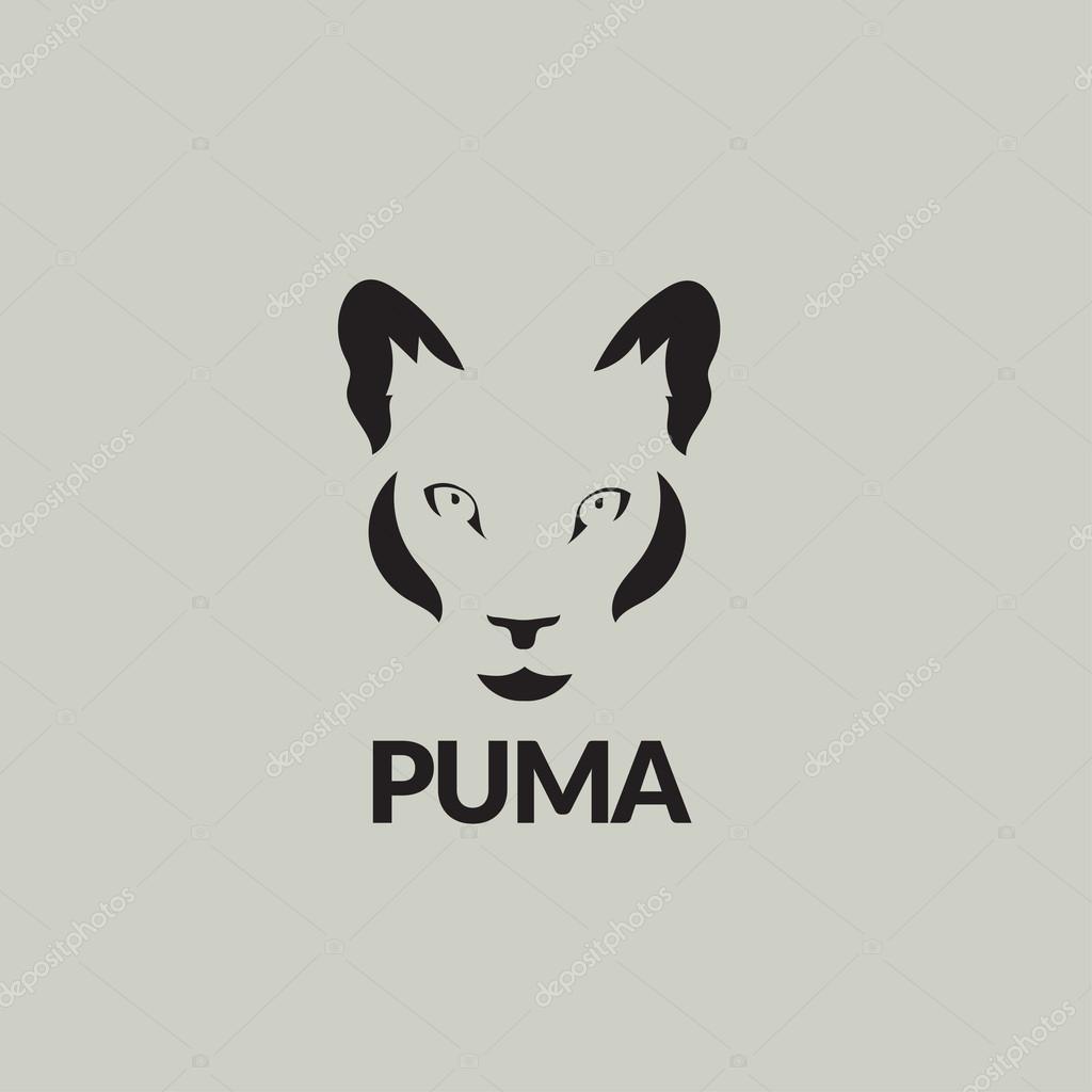 Artistic vector silhouette puma. Stylized idea wild animal icon.