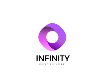 Infinity abstract logo design. Creative business icon. Vector idea logotype.