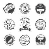 Fényképek Vintage logók, címkék és jelvények, takarítás