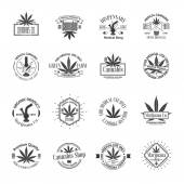 Fotografie Set of medical marijuana logos. Cannabis badges, labels and logos