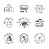 Photo Set of elegant wine badges and labels. Vintage logos template