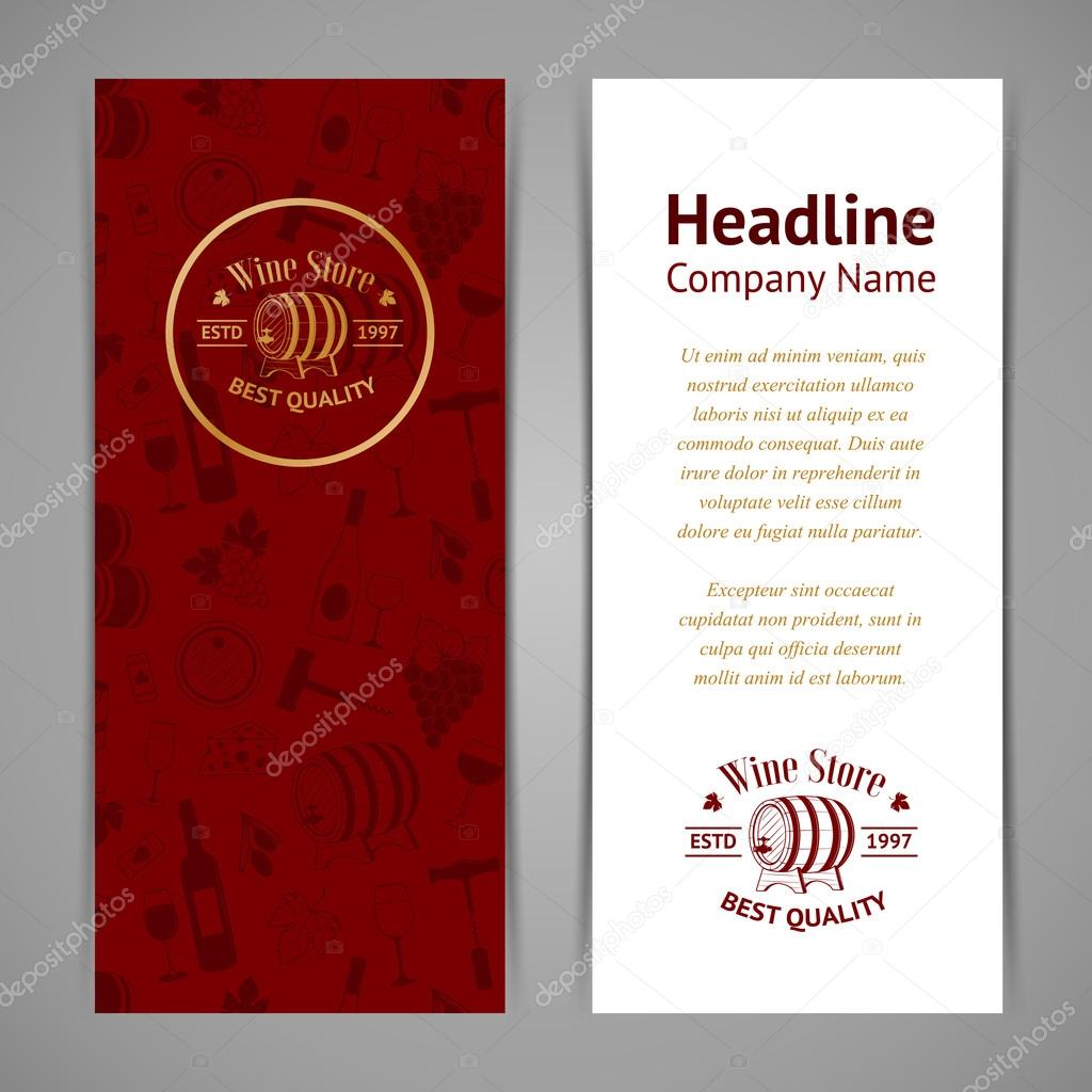 Set of business cards templates for wine company stock vector set of wine business cards templates for wine company vintage vector illustration for your design vector by dashag colourmoves