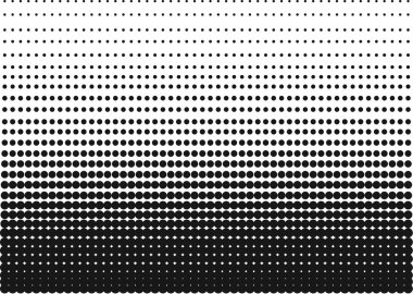 Black and White Halftone Gradient as a Background or Motif to be used Pop Art or Retro Comics. Editable Clip Art.