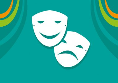 Symbol of Sadness and Happiness in Acting or Theatre arts