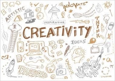 Creativity and Innovation Doodle Collection Vector. Editable Clip Art.