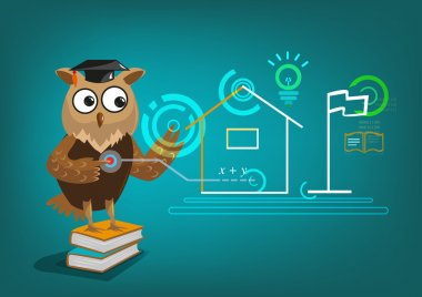 Owl Uses Touchscreen Interactive System