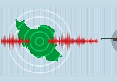 Islamic Republic of Iran Earthquake Vector concept. Editable Clip Art.