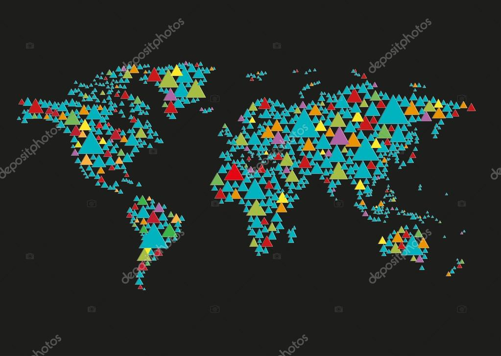 World map abstract illustration in black background editable clip world map abstract illustration in black background editable clip art vector de stock gumiabroncs Images