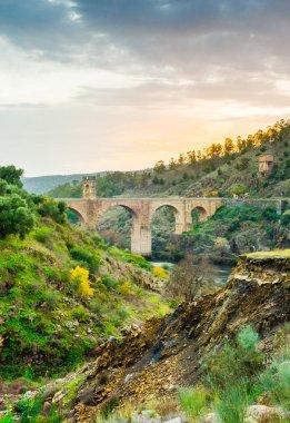 Ancient Roman bridge of Alcantara. Spain.
