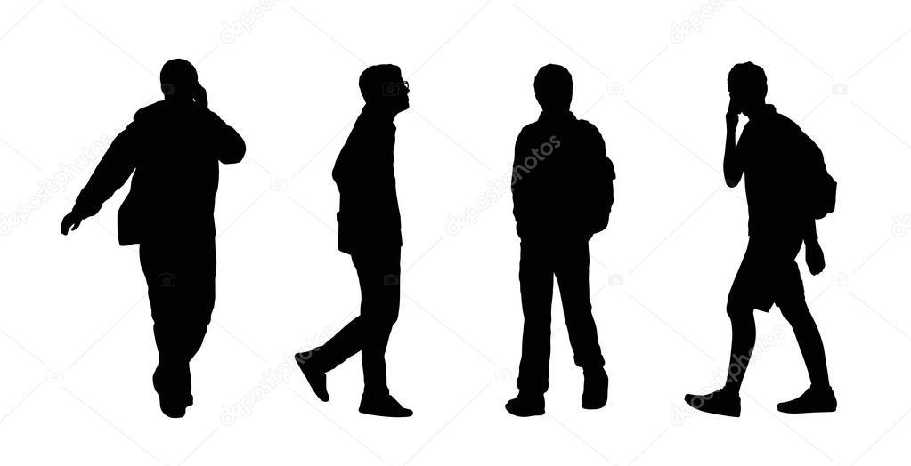 Sagome Persone Che Camminano.Persone Che Camminano Insieme All Aperto Sagome 20 Foto