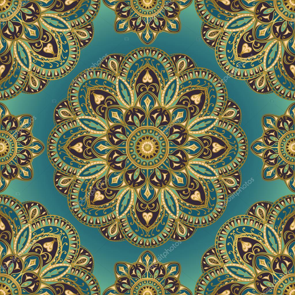 Disegno di mandala per tessile vettoriali stock - Tappeto mandala ...