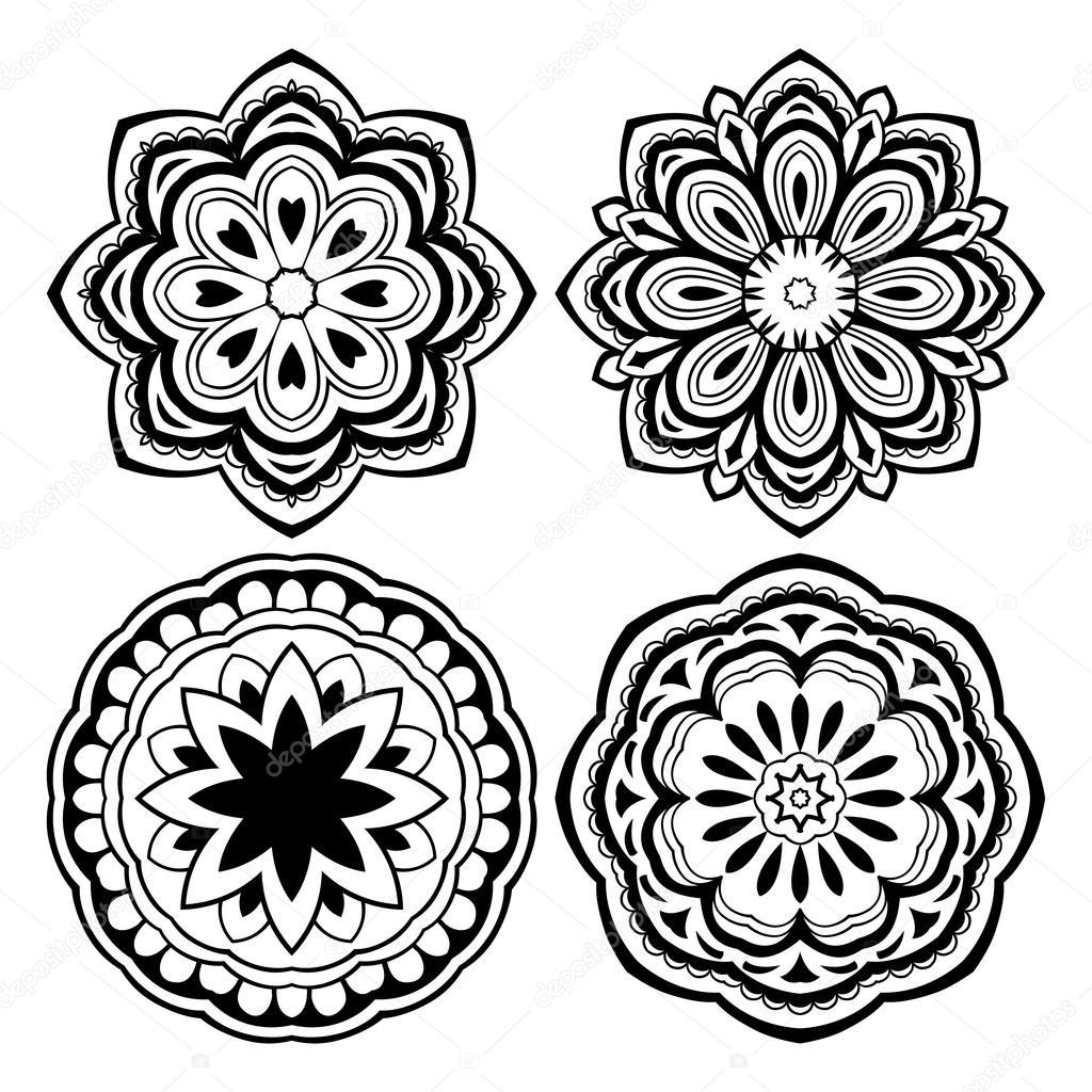 Plantillas Para Tatuajes De Henna Para Imprimir Conjunto De