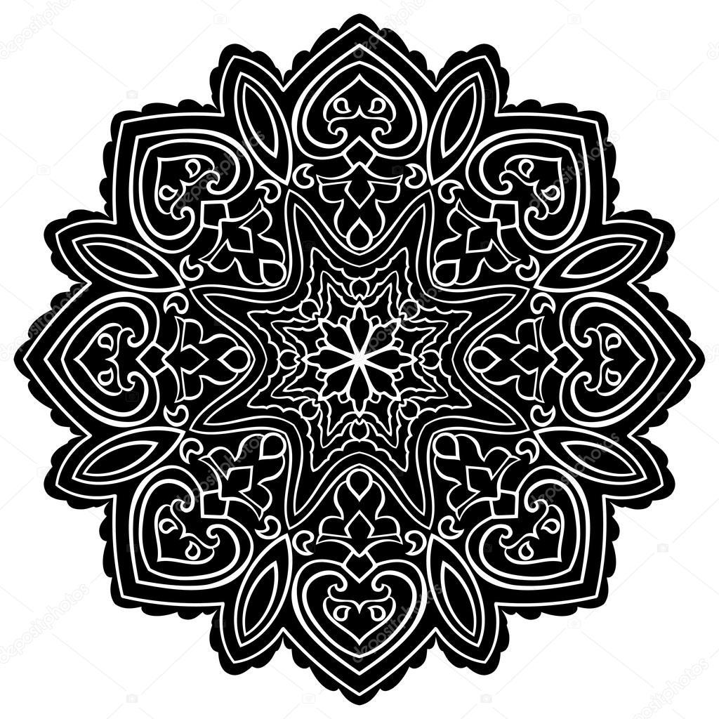 Simple black mandala. — Stock Vector © matorinni #108915082