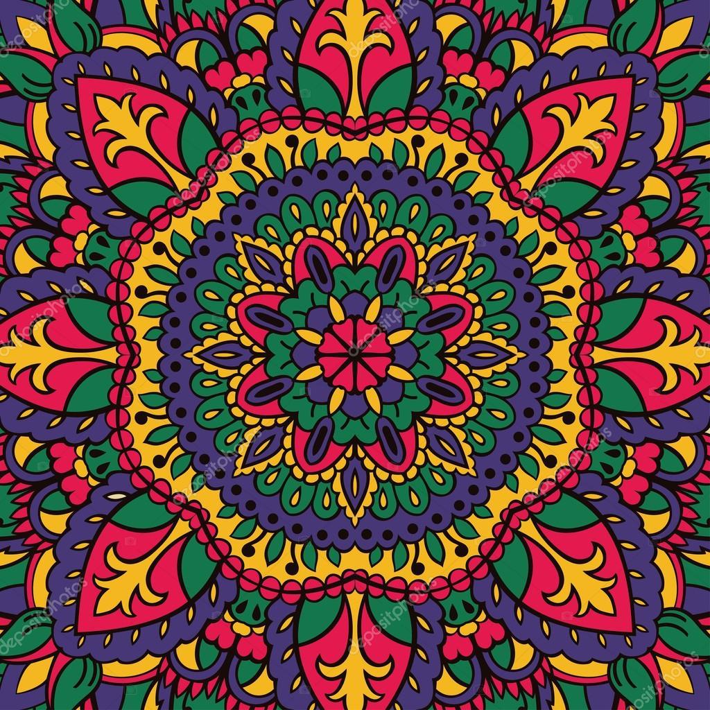 Patr n de colores de los mandalas vector de stock - Colores para mandalas ...