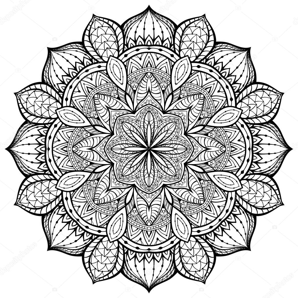 Graceful Ornamental Vector Mandala On A White