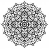 Medieval black and white mandala.