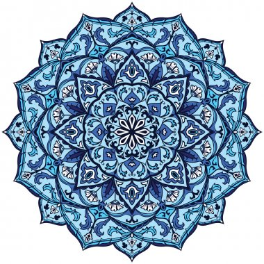Vintage blue mandala.