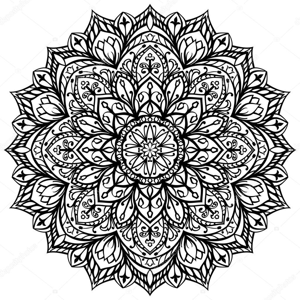 El patrón de bordado - imágenes  patrones para bordar mandalas — Vector de  matorinni — Vector de matorinni 1b6ed32687df7