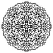 Photo Black vector mandala.