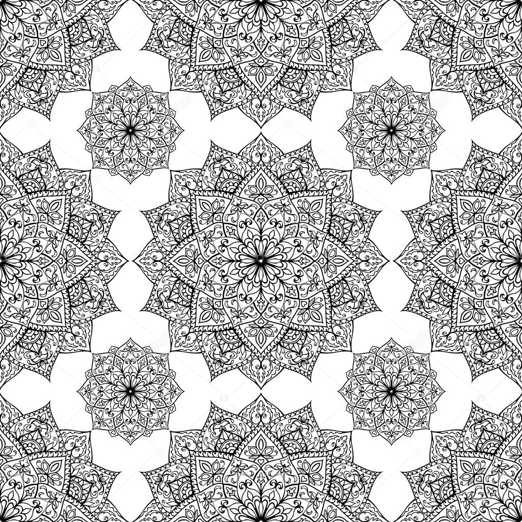 Pattern of mandalas.