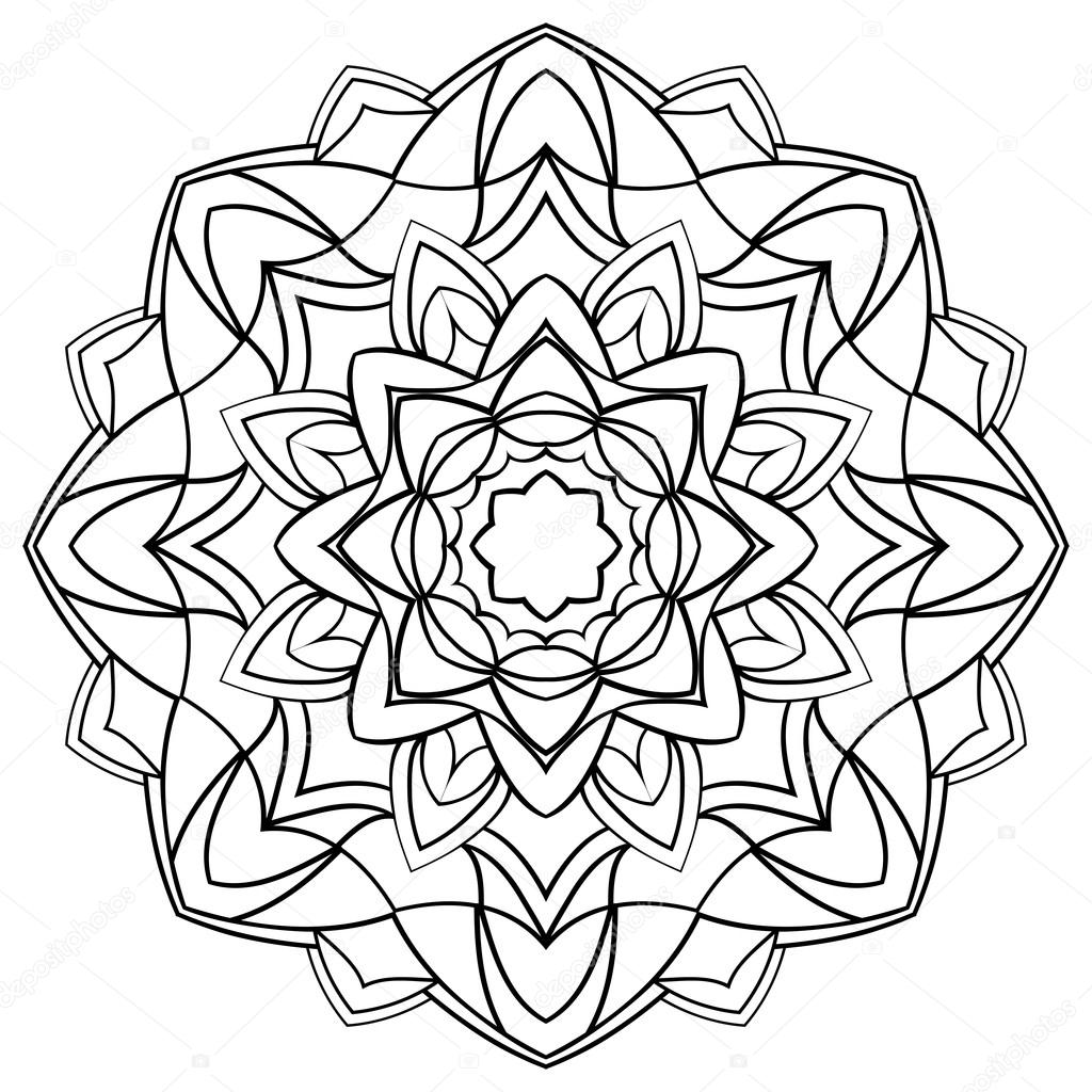 Mandala Boyama Kitabı Için Stok Vektör Matorinni 85847566