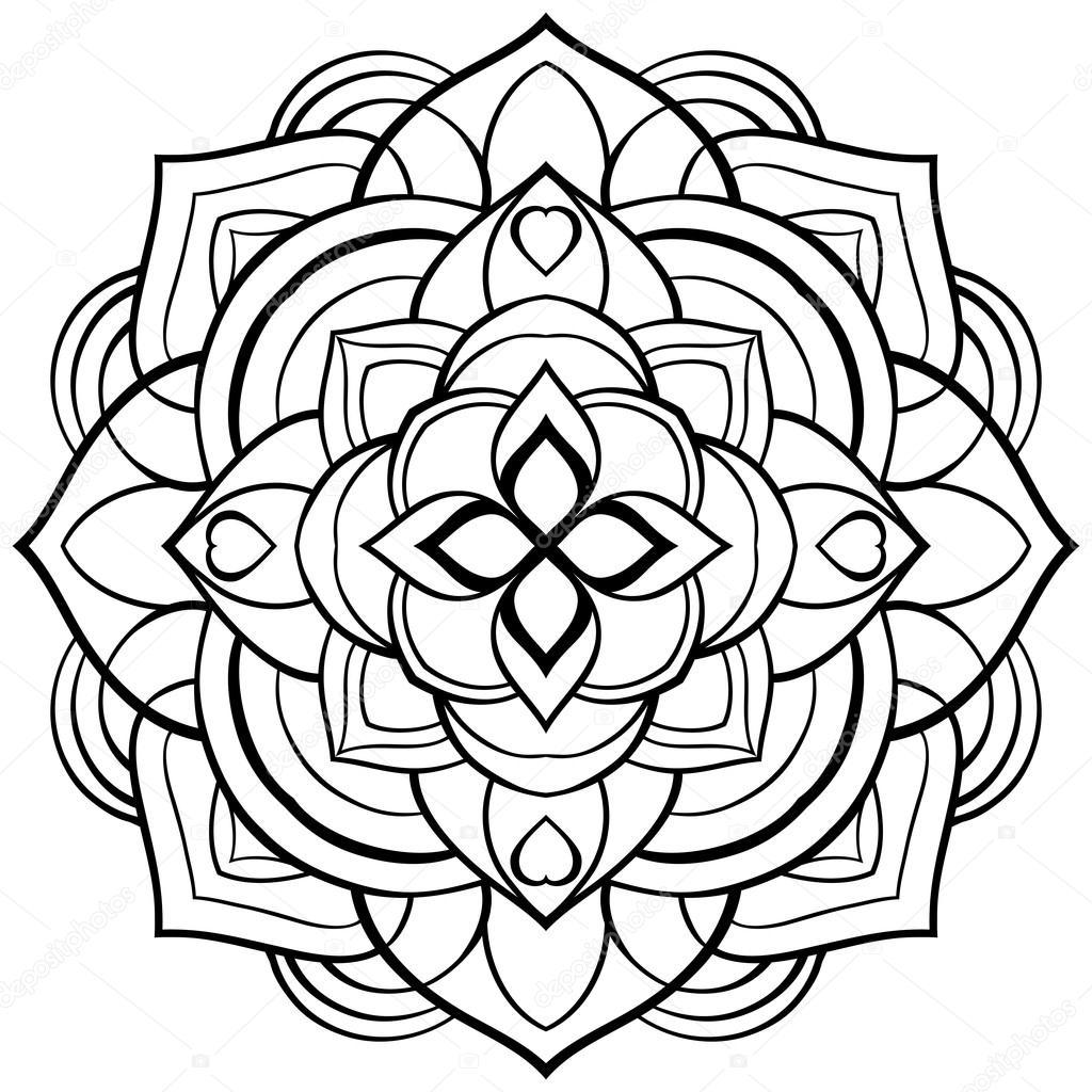 Mandala de vector para colorear libro — Vector de stock © matorinni ...