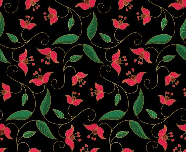 Stylized floral ornament.