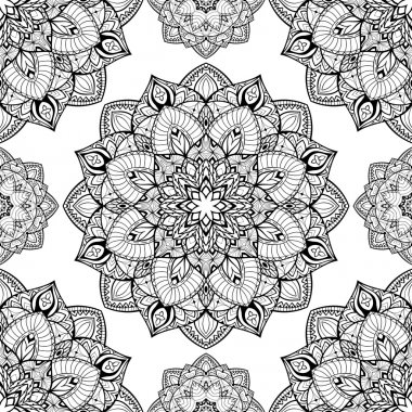 Beautiful pattern of mandalas.
