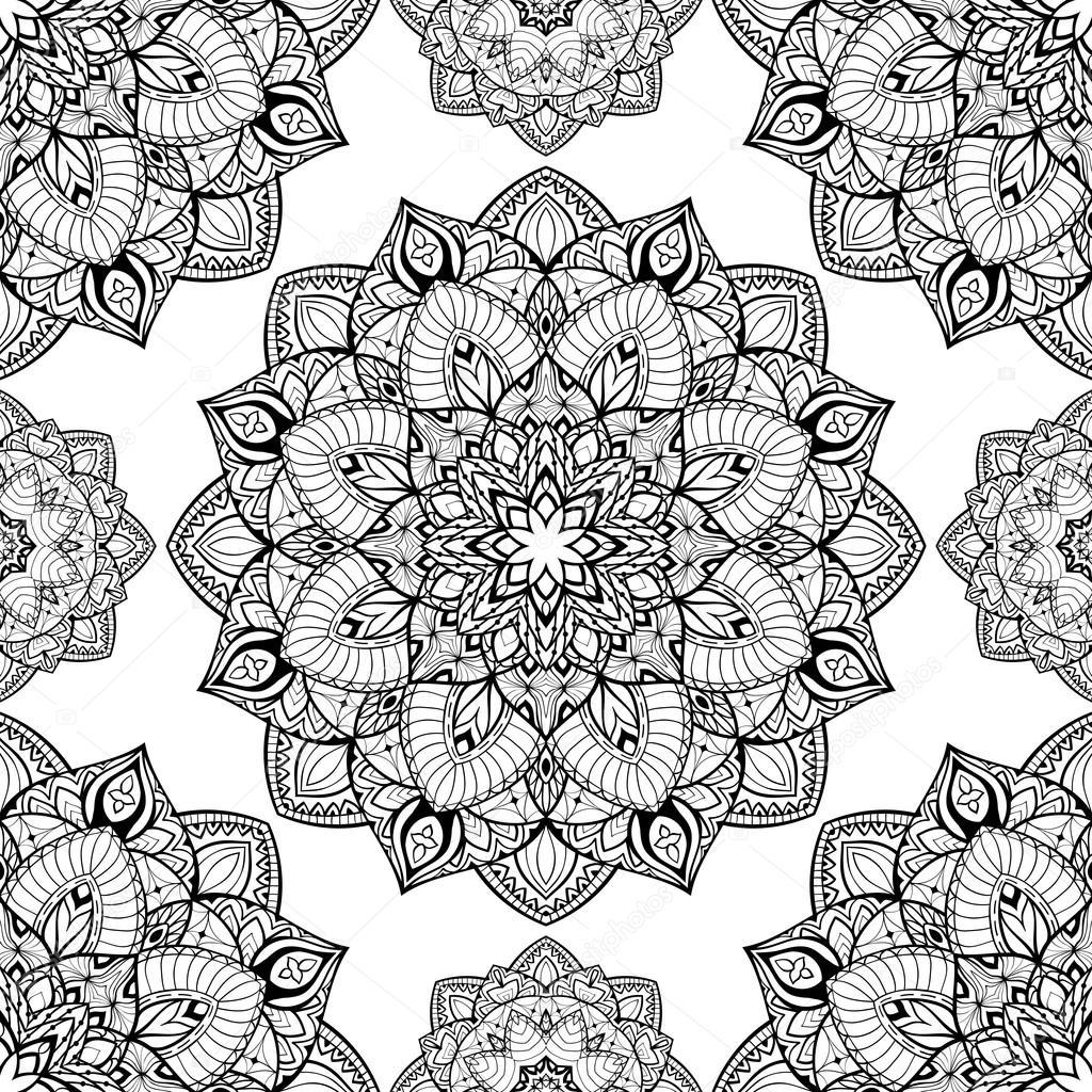 Hermoso patrón de mandalas — Archivo Imágenes Vectoriales ...