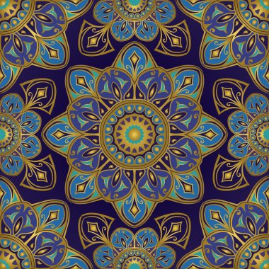 Ornament on a dark blue background.