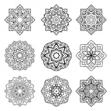 Set of mandalas.