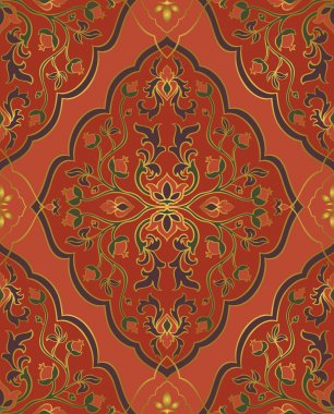 Red oriental ornament.