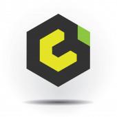 Blockkette digitale dezentrale Smart Contract Technology Token Logo, Emblem, Marke, Gerät, Symbol, Design, Zeichen, Marke, Stempel, Monogramm; Insignien, Wappen, Siegel, Schild, Abzeichen, Motiv, Punze, Logo